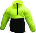 NEW!! KIDS SAFETY HI VIS POLAR FLEECE JUMPER CHILDREN'S WEAR SIZES 4-14