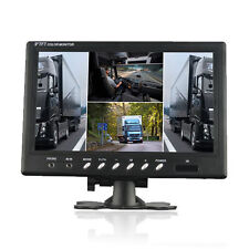 9 Inch HD 4 Split Quad Video Display 4 Video Input TFT LCD Car Rear View Monitor