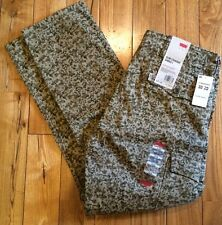 NWT Mens LEVIS Tan Brown Camo Slim Straight Cargo Pants Size W31 L30 $68