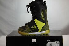 DC SHOES MEN'S WINTER SNOW BOOTS CEPTOR BLACK/FLUORESCENT GREEN size M8.0 NIB!