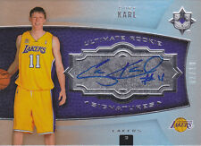 2007-08 Ultimate Collection Foil Autograph #131 Coby Karl Auto RC #/10