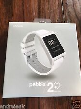 Pebble 2 + Heart Rate SmartWatch ^ White ^ 1002-00066
