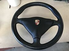 97-04 Porsche Boxster 986 996 Steering Wheel Black Leather with Air bag 6 speed