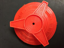 Original Vintage Pedal Car Part Red Plastic Wheel Hubcap from Fire Chief Truck