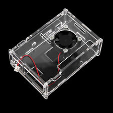 Transparent Clear Case Enclosure Box + Cooling Fan for Raspberry Pi 2 Model FH3