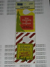"""KAREN FOSTER CHRISTMAS 2 PIECES  """"PAGE HANGER"""" FOR SCRAPBOOK LAYOUT / PROJECT"""