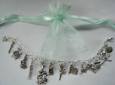 Peter Pan Theme Charm Bracelet Party Bag Tinkerbell Hook Prize Birthday