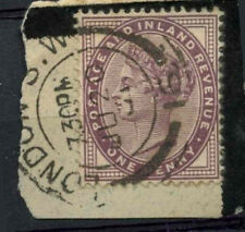 """GB QV 1881 SG#172, 1d Lilac """"London S.W."""" Used On Piece #D7687"""