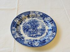Enoch English Scenery Woods Plate ware wood & Sons England Ralph 1750 blue 10in