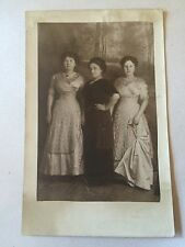 Edwardian Era Women Photo RPPC 1910s Antique