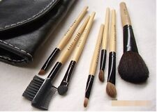 Bobbi Brown Make Up Brushes Set With Soft Bag Case Eye Shadow Brown Kit 7pcs