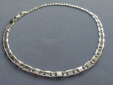 """NEW-10"""" ITALIAN STERLING SILVER ANKLE BRACELET-DETAILED SWIRLY ETCHED / POLISHED"""