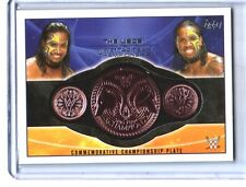 WWE The Usos 2015 Topps Tag Team Commemorative Belt Plate Relic Card