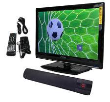 """19"""" Flat 12V AC/DC HD Television TV & Digital Tuner + Bluetooth Sound Bar Aux"""