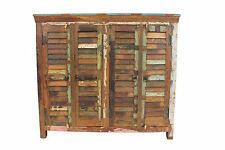 Large Sideboard Cupboard In Reclaimed Vintage Wood Storage Cabinet FREE DELIVERY