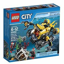 LEGO® City Deep Sea Submarine Building Play Set 60092 NEW NIB