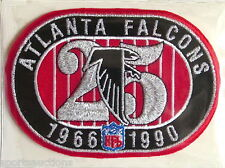 ATLANTA FALCONS ~ 25th ANNIVERSARY NFL PATCH STAT CARD Willabee & Ward WORN 1990