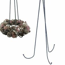 Wreath holder Set 23 5/8in grey with 3 Arms Hook Advent