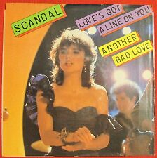 SCANDAL Love's Got A Line On You / Another Bad Love, 45 PICTURE SLEEVE ONLY - NM