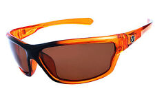 Mens Wrap Around Polarized Sunglasses UV400 Outdoor Sports Eyewear- Orange NT01