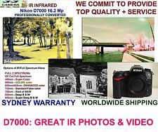 Nikon D7000 16.2mpx FULL SPECTRUM UV VIS NIR IR Infrared body camera converted