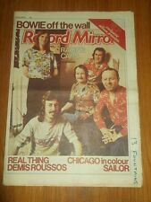 RECORD MIRROR FEBRUARY 26 1977 DAVID BOWIE RACING CARS BEETHOVEN THE BEATLES