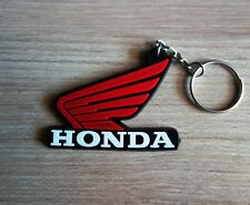 HONDA Wing Keychain Key ring Red Rubber Motorcycle Bike Car Collectible Gift New