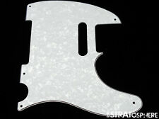 *NEW White Pearloid Telecaster PICKGUARD for Fender USA Vintage Tele 3Ply 5 Hole