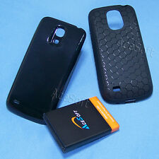 3in1 Kit Extended A+ Battery Back Cover TPU Case for Samsung Galaxy S4 mini I257