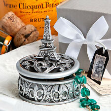 12 Eiffel Tower Curio Boxes Parisian Paris Themed Bridal Shower Wedding Favors