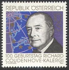 Austria 1994 Coudenhove-Kalergi/Politician/Politics/Map/Europe/People 1v n40706