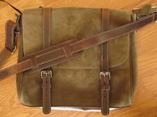 "Roots Canada Modern Satchel Water Leather  ""color PINE"" 18050366 Vintage look"