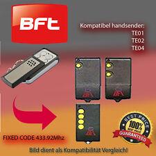 Handsender für BFT Garagentorantriebe 433,92 MHz TE01,TE02,TE04 Funksender
