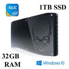Fast Intel NUC mini PC/Core i7/QUAD CORE/32gb RAM/1tb SSD/WIN 10 PRO
