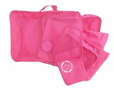 6 Set Packing Cubes Luggage Compression Pouches - Travel Organizers PINK