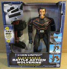 "DC Comic 13"" X-Men United Electronic Battle Action Wolverine Figure + Sounds NEW"