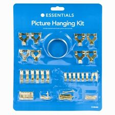 Picture Mirror Hanging Kit 60 Piece Brass Set Assorted Sizes Hooks Wire Nails