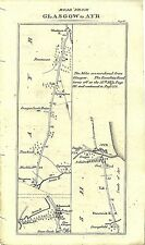 Antique map, Glasgow to Ayr (2)