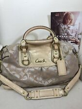 Coach Ashley Signature Sateen Convertible Patent Leather  15443 Logo Satchel