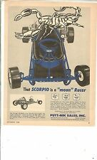 Vintage Scorpio Kart by Putt-Nik full page part color ad 1960
