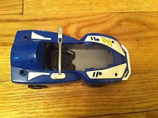 1997 Bandai brand Power Rangers Action Figure blue race car toy Distressed RARE
