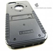BLACK TRI-SHIELD RUGGED HYBRID HARD CASE COVER APPLE IPHONE 5 5S SE ACCESSORY