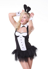 5 Piece Playboy Bunny/Bridget Jones Costume Dress Ears Cuffs Collar Size 10