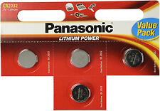 4 x Panasonic CR2016 3V Lithium Coin Cell Battery 2016 Batteries Brand new stock