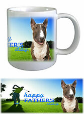 Bull Terrier Dog Fathers Day Ceramic Mug -1 by paws2print