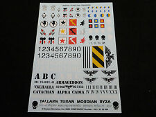 40K Astra Militarum / Imperial Guard Tank / Vehicle Decals / Transfer Sheet