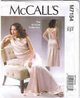 Vintage 30s Retro Evening Cocktail Dress McCalls Sewing Pattern 6 8 10 12 14