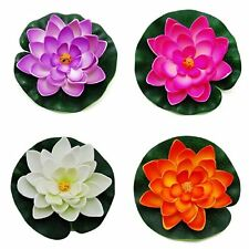 Floating Pond Decor Water Lily / Lotus Foam Flower, Small (Set of 4), New, Free