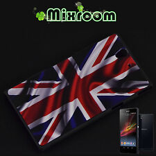 COVER CUSTODIA CASE RIGIDA PER SONY ERICSSON XPERIA Z L36H BANDIERA INGLESE UK