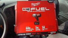 "New Milwaukee 2762-22 M18 FUEL™ 1/2"" High Torque Impact Wrench Kit w/ Pin Detent"